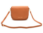 leather handbag women saddle style purse full grain leather tan