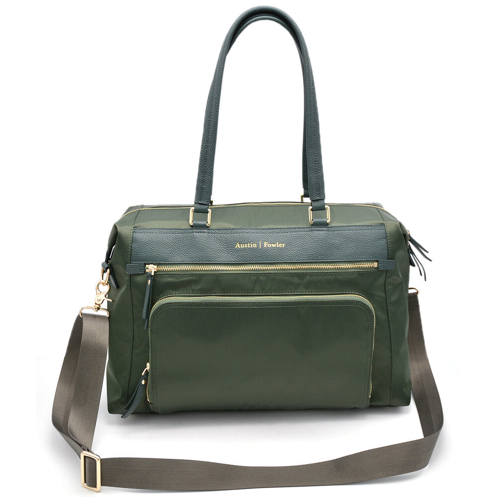 green work bag for women tote style backpack carry messenger laptop bag women