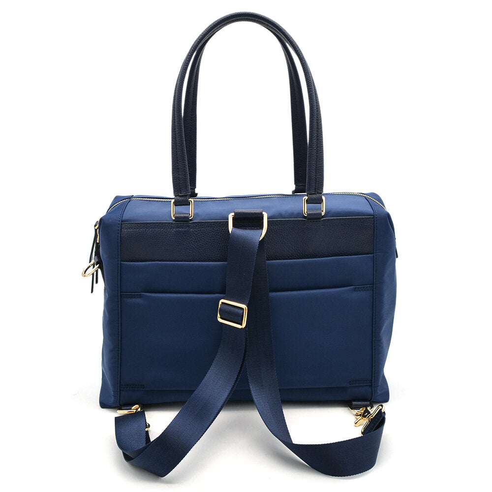 navy  work bag for women tote style backpack carry messenger laptop bag women