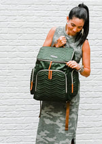 green diaper bag backpack travel bag work bag women