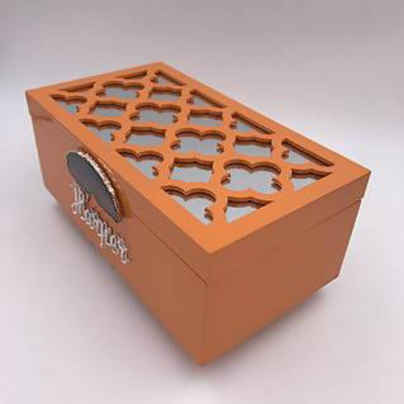 Orange Lattice Customer Lacquer Box