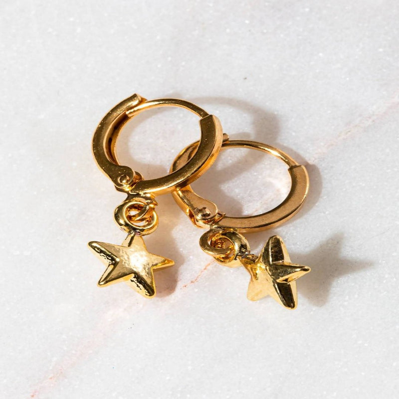THE IN THE STARS TIMELESS HUGGIE EARINGS