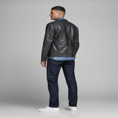 UPNEXTED  BLACK BONA FIDE LEATHER JACKET
