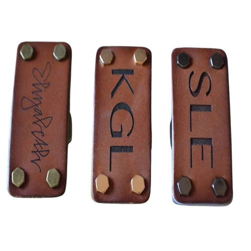 Signature Leather Belt Buckle