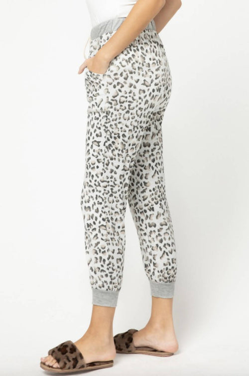 SOFT LEOPARD PRINT JOGGER FOR COZY NIGHTS