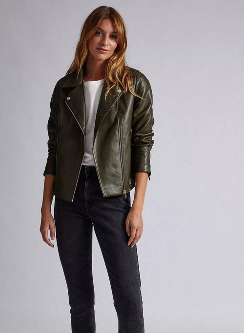 SURGIESPOUT COAT STYLE FAUX LEATHER JACKET