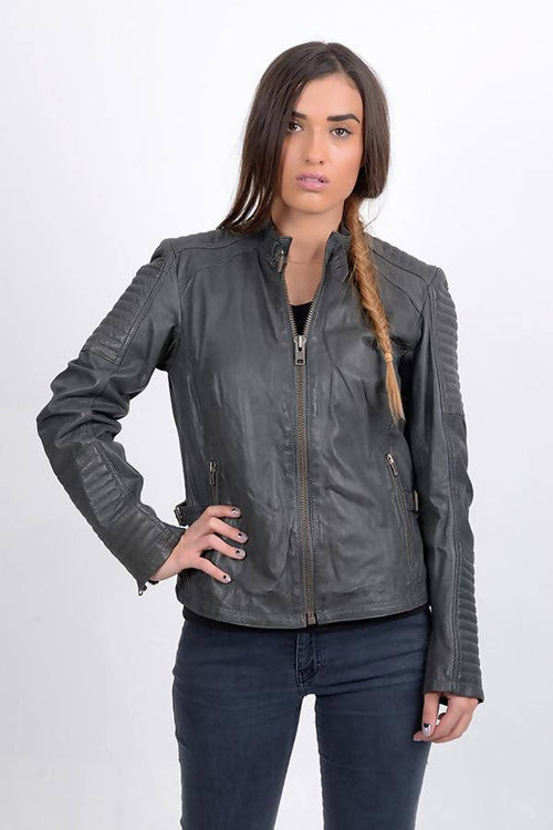 BUILDRIGDE WOMEN'S GENUINE LEATHER JACKET