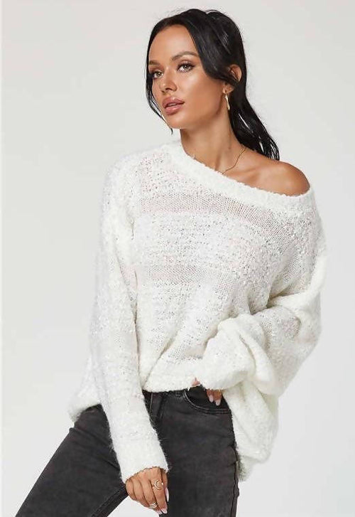 CUTE AND COZY WINTER WHITE SNOW DAY SWEATER