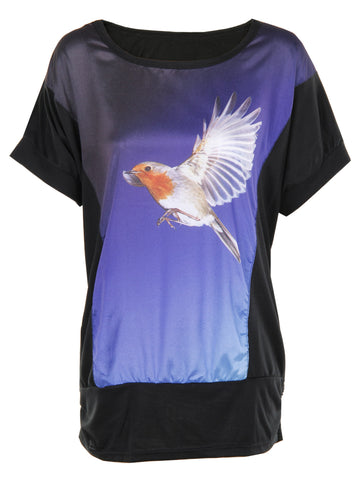 Humming Bird Print T-Shirt