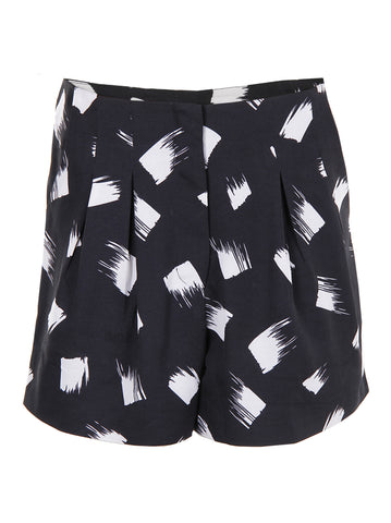 Brushstroke Print Shorts