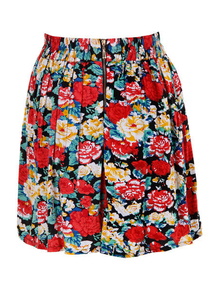 Floral Print Skirt - -Skirts- Tenner Store - 2