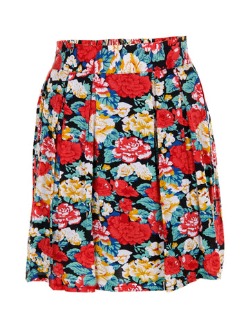 Floral Print Skirt - -Skirts- Tenner Store - 1