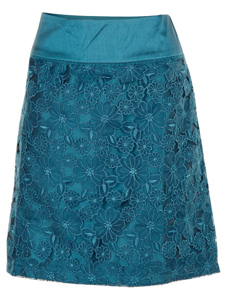 Floral Lace Skirt - -Skirts- Tenner Store