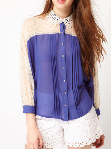 Liz Lace Blouse - -Tops- Tenner Store - 1