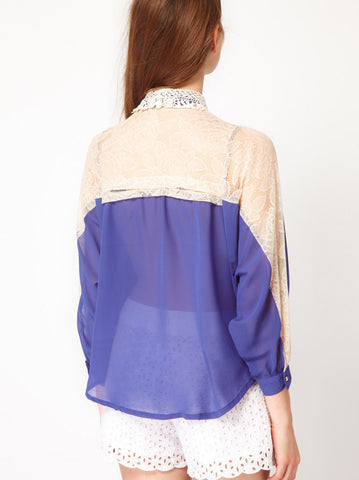 Liz Lace Blouse - -Tops- Tenner Store - 2