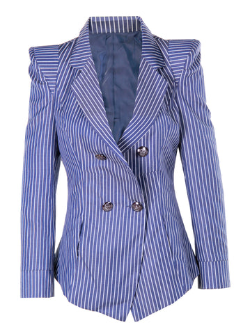 Stripe Navy Blazer