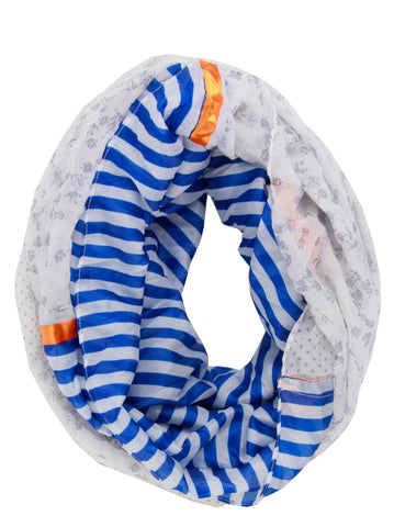 Floral And Stripe Print Snood