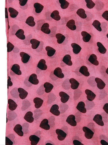 Heart Print Scarf - -Scarves- Tenner Store - 2