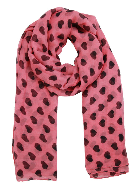 Heart Print Scarf - -Scarves- Tenner Store - 1