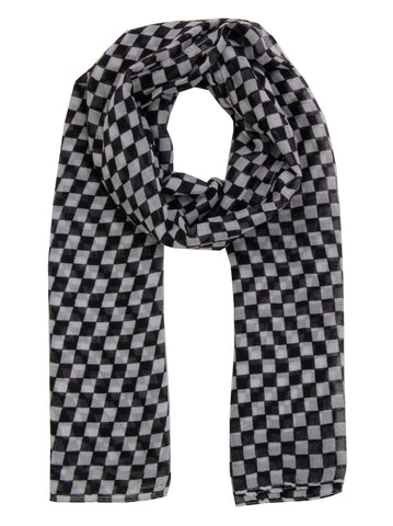 Checker Print Scarf