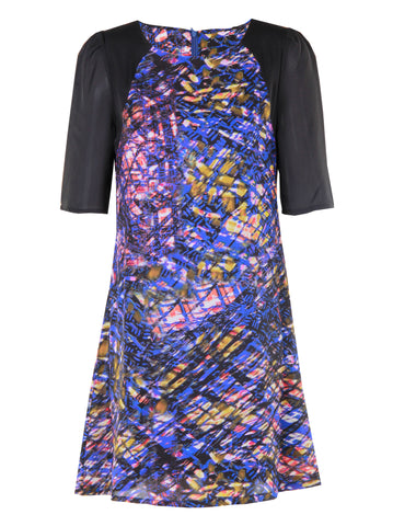 Texture Print Dress - -Dresses- Tenner Store - 1