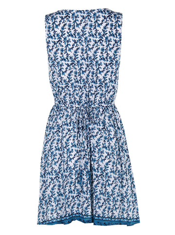 Flower Print Tie At The Back Dress