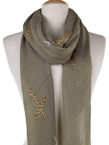 Leopard Cross Scarf - -Scarves- Tenner Store - 2