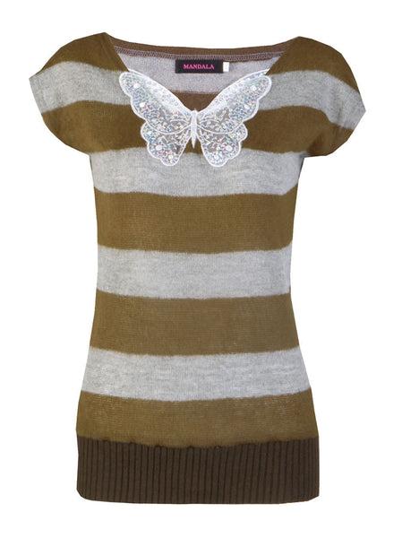 Butterfly Knitted Top - -Tops- Tenner Store - 1
