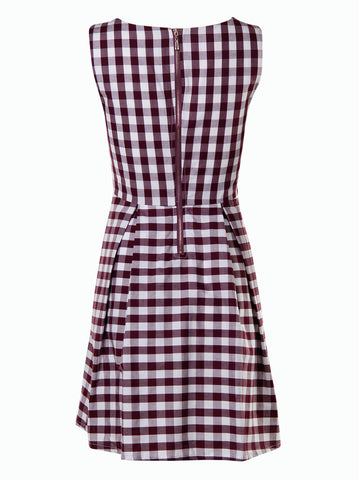 Tartan print dress - -Dresses- Tenner Store - 2