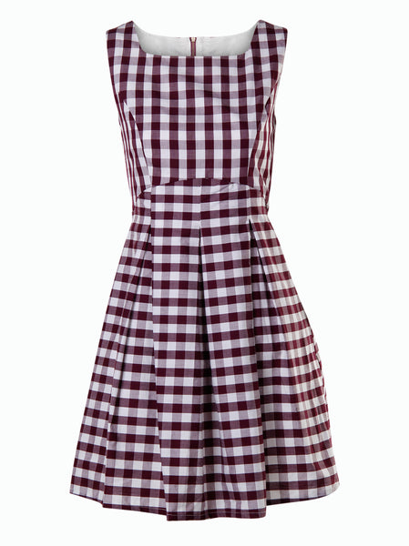 Tartan print dress - -Dresses- Tenner Store - 1
