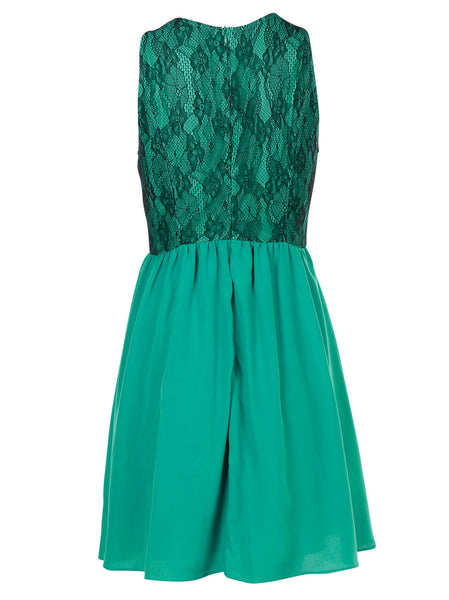 Charlotte Green Dress - -Dresses- Tenner Store - 2