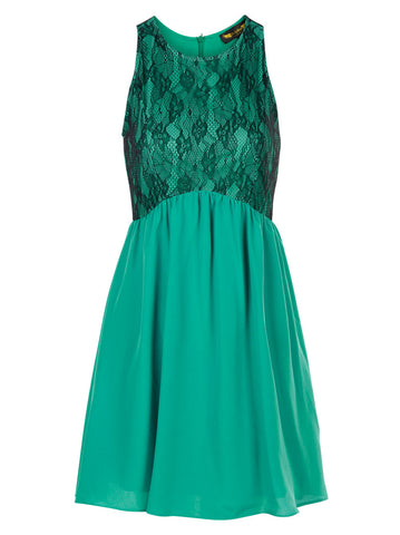 Charlotte Green Dress - -Dresses- Tenner Store - 1