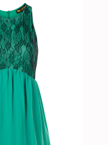 Charlotte Green Dress - -Dresses- Tenner Store - 3