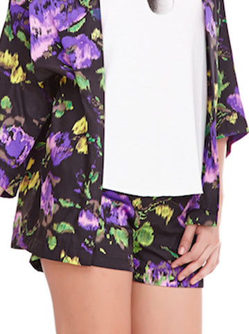 Floral stroke shorts - -Skirts- Tenner Store - 2