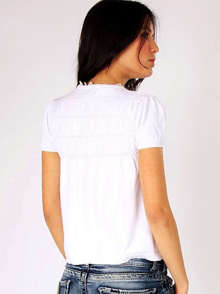 White Knitted Top - -Knitwear- Tenner Store - 2