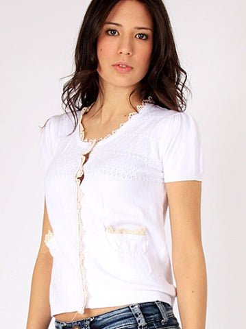 White Knitted Top - -Knitwear- Tenner Store - 1