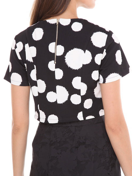 Spot Cropped Top - -Tops- Tenner Store - 2