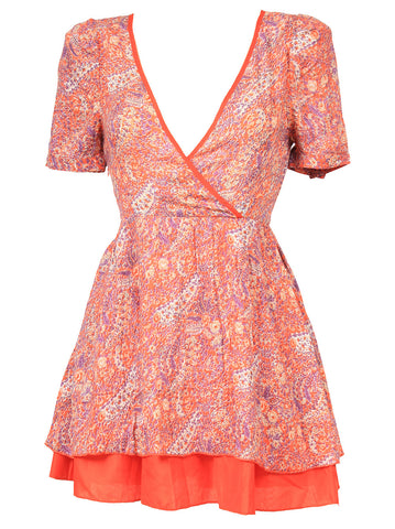 Paisley Print Dress - -Dresses- Tenner Store