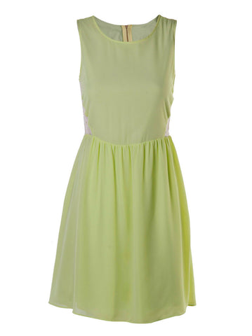 Priscilla Lime Dress