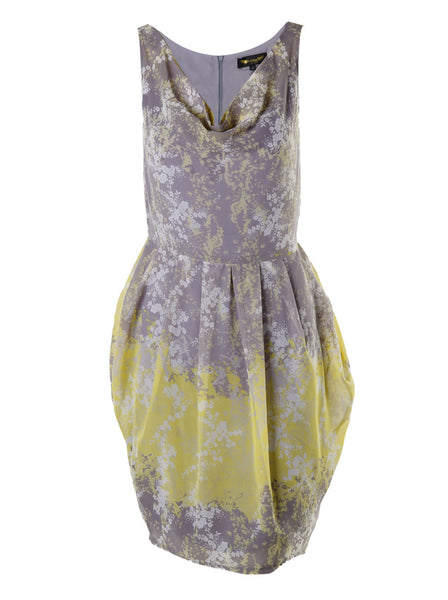 Sleeveless Cowl Neck Floral Dress - -Dresses- Tenner Store - 1