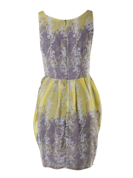 Sleeveless Cowl Neck Floral Dress - -Dresses- Tenner Store - 2