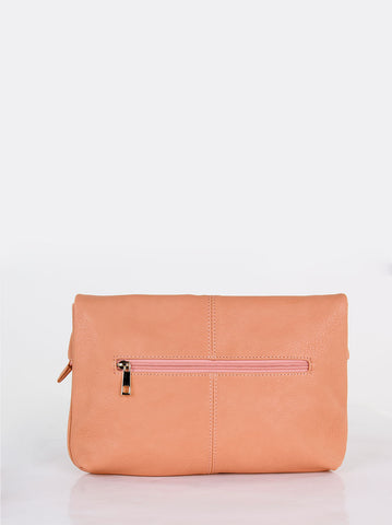 Slouch Fold Over Bag Pink