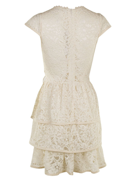 Lace Tiered Dress - -Dresses- Tenner Store - 2