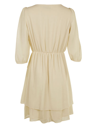 Ruffle Dress With Pleats