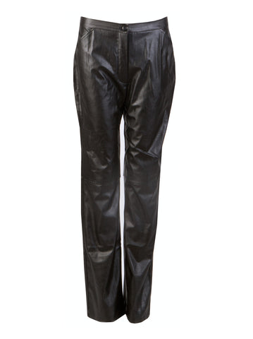 Leather Trousers - -Trousers- Tenner Store - 1