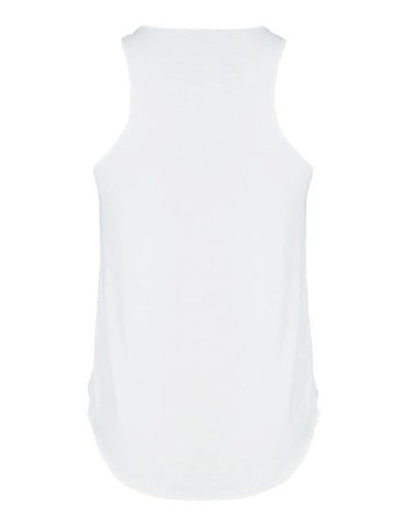 Mustache Print White Vest - -T-shirts and Vests- Tenner Store - 2