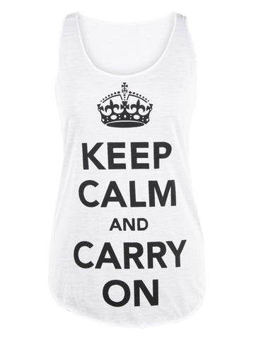 Keep Calm & Carry On Vest