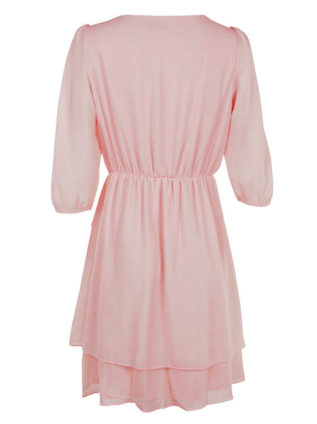 Ruffle Dress With Pleats - -Dresses- Tenner Store - 2
