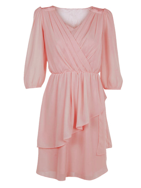 Ruffle Dress With Pleats - -Dresses- Tenner Store - 1