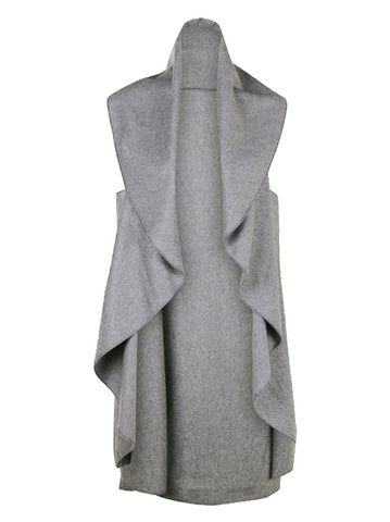 Sleeveless waterfall coat